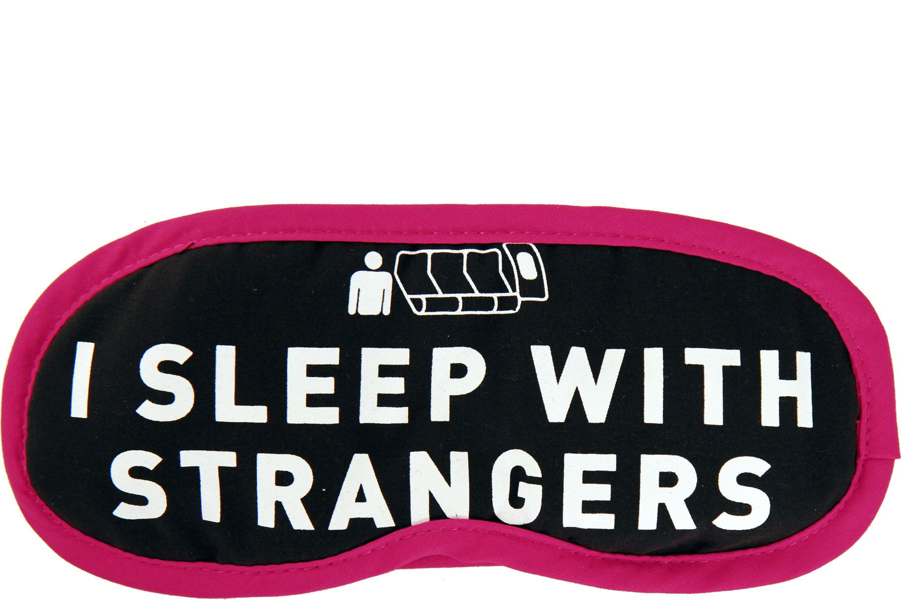 Flight 001 exclusive Eye Mask with a I Sleep With Strangers
