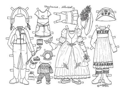 Karen`s Paper Dolls: Stephanie 1-3 Paper Doll to Colour. Stephanie 1-3…