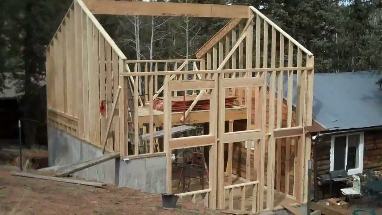 How To Frame A Simple 2 Story Cabin Addition Wood Frame Cabin