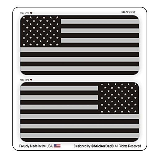 5-pack American Flags Hard Hat Decals Helmet Stickers Labels Old Glory USA Flag