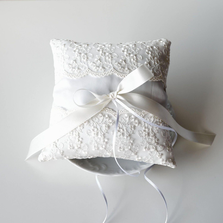 Cuscino Portafedi Bianco E Blu.Cuscino Portafedi Portafedi Matrimonio Accessori Matriomonio