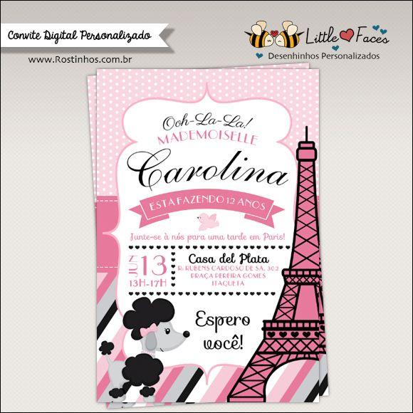 Convite Festa Paris Para Imprimir Paris Birthday Parties Paris
