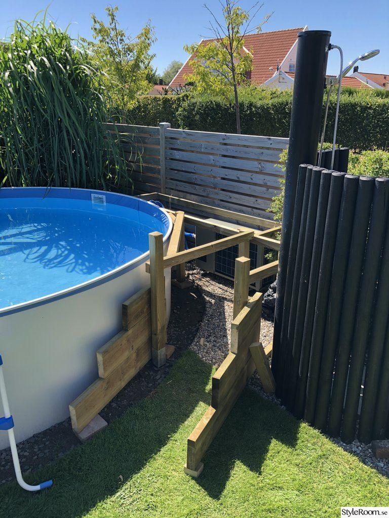 Trädäck till pool 2018 - Hemma hos zkaning #poolimgartenideen