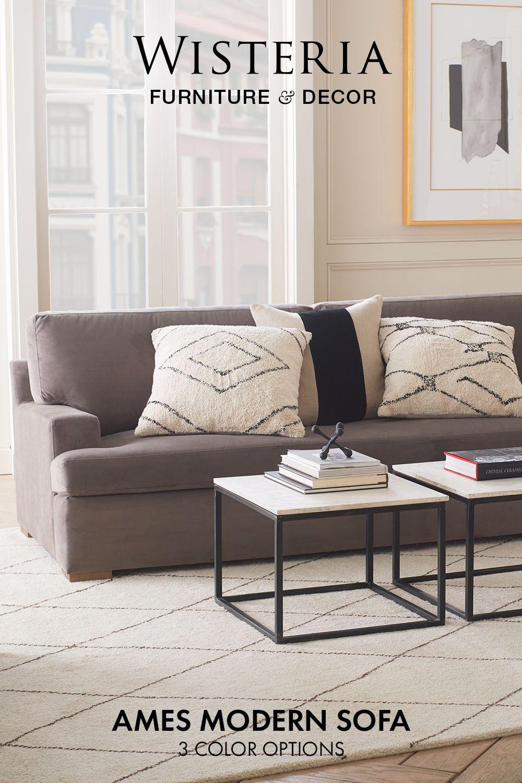Ames Modern Sofa In 2020 Furniture Modern Sofa Furniture Design