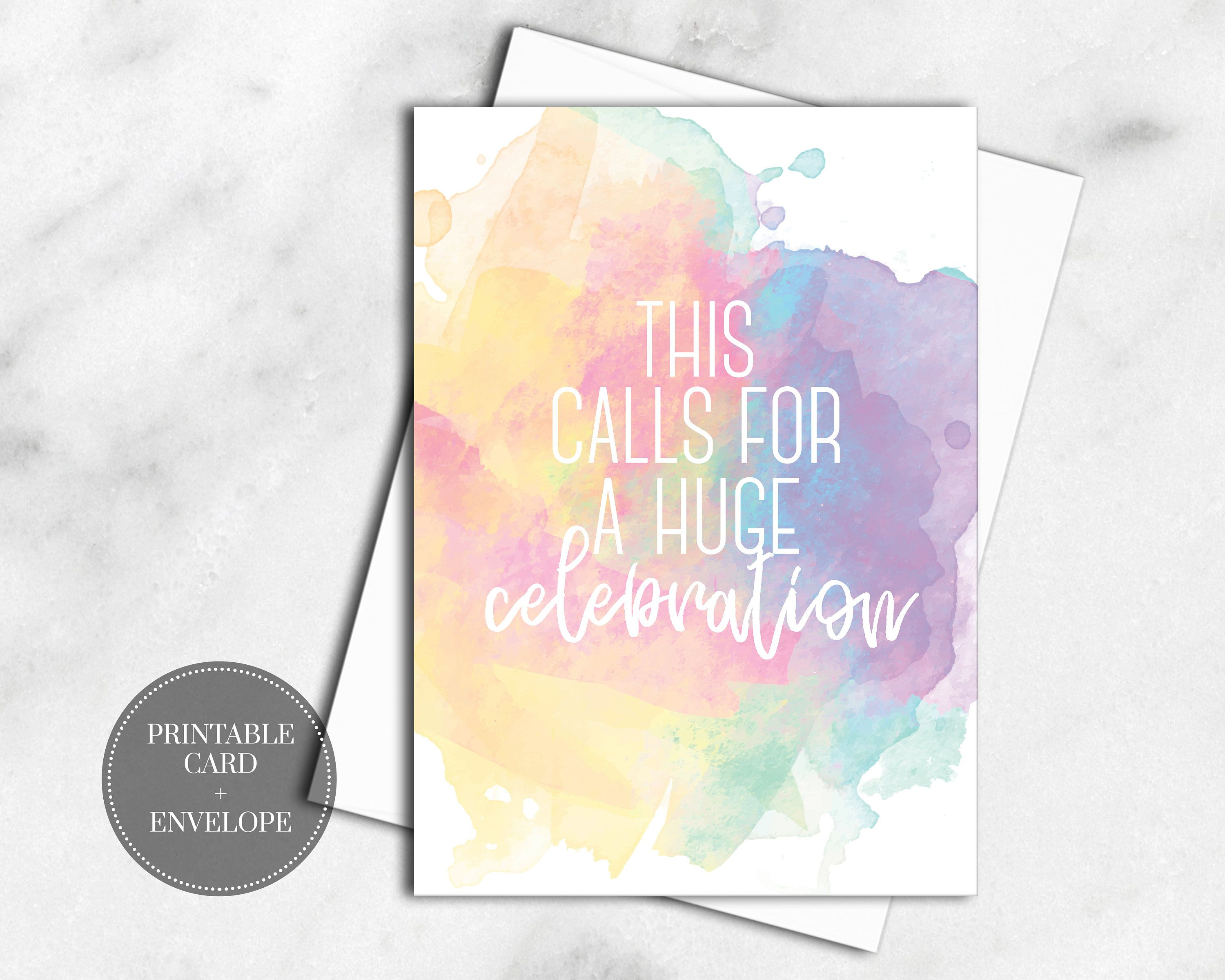 Printable Expecting Card For Baby Shower Gift Instant Download