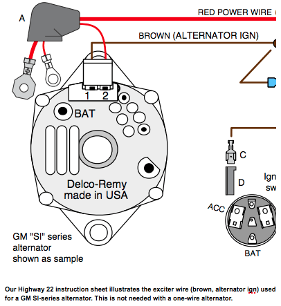 1 Wire Gm Alternator Diagram | Alternator, Automotive ...