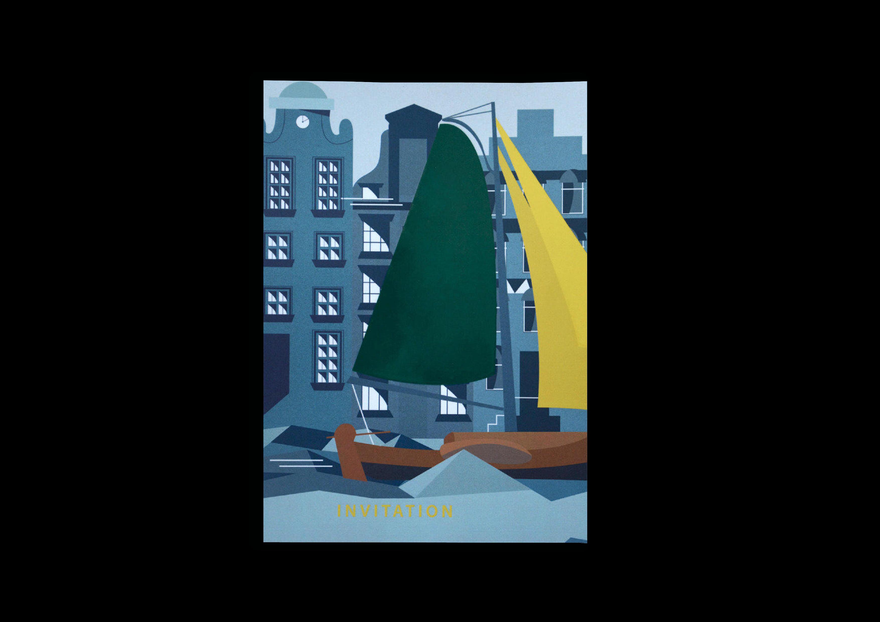 Invitation Graphic Drawing - Amsterdam