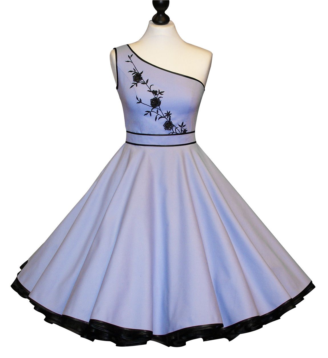 petticoatkleid // hellblau// abendkleid   schöne kleider