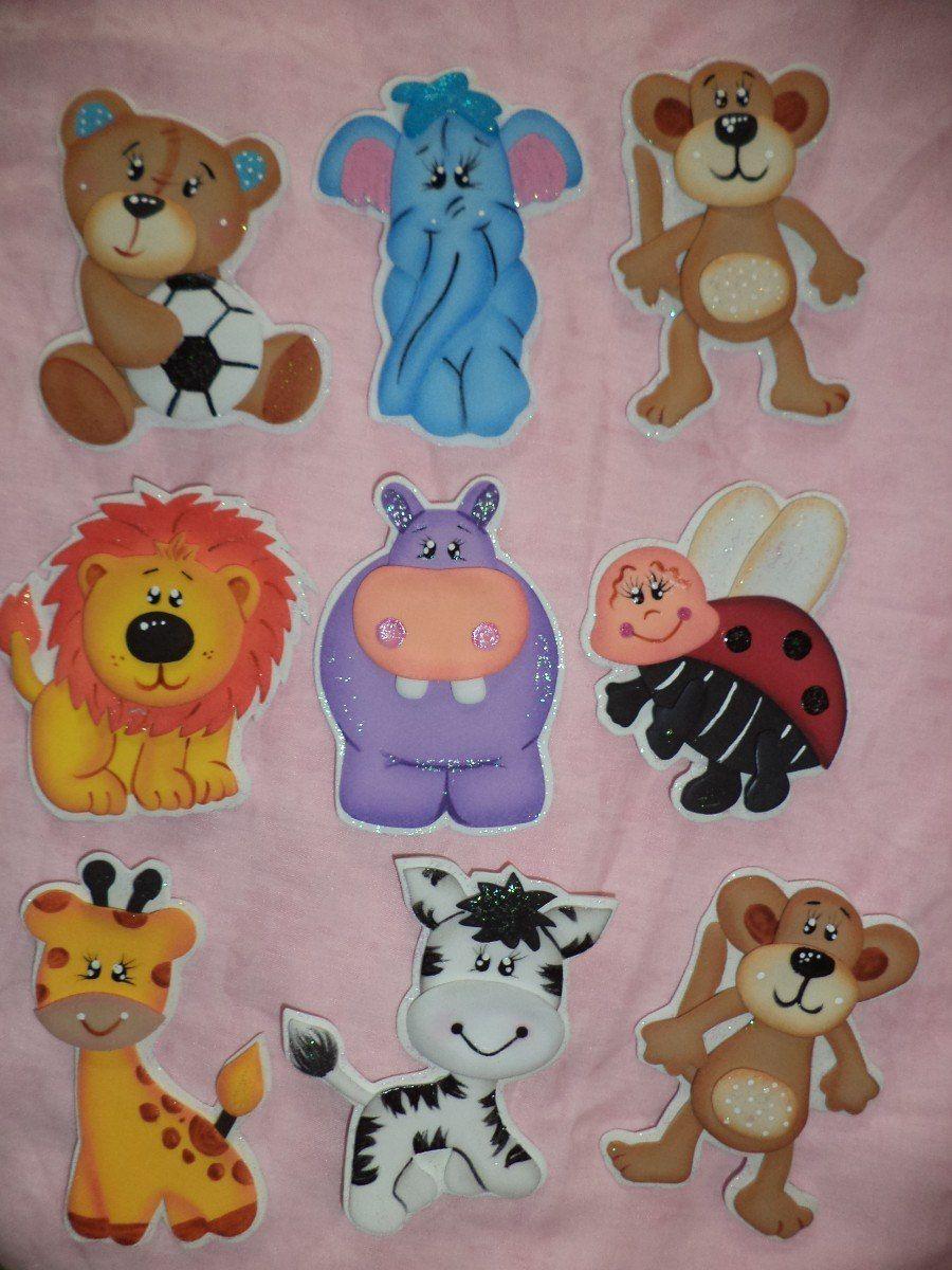 recuerditos para baby shower en foami animales safari foamy bsf