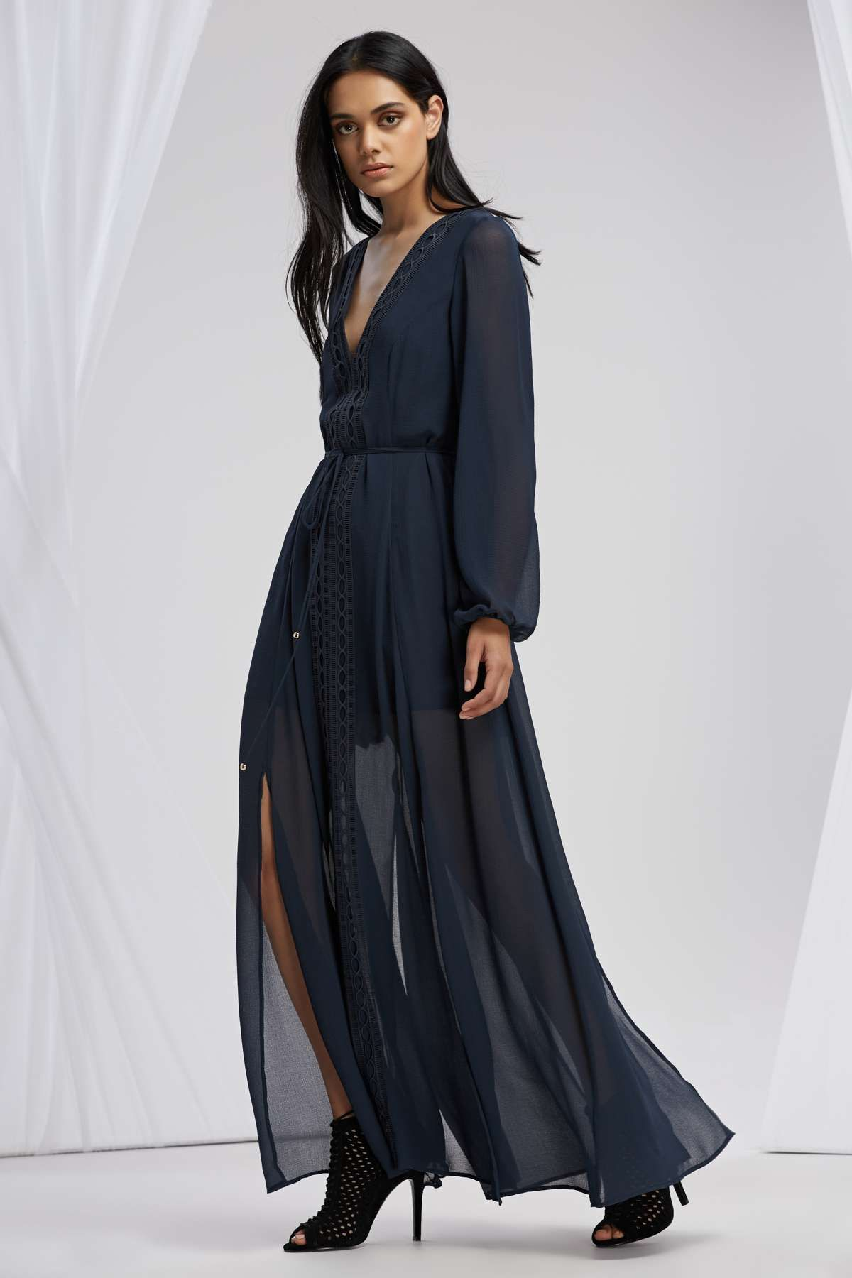 Maison long sleeve maxi dress slate ss pinterest maxis