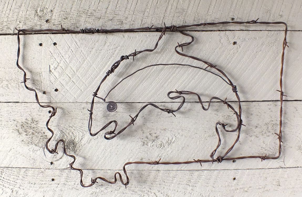 MT Fish Wire Wall Art | Distinctly Montana Gift Ideas for the ...