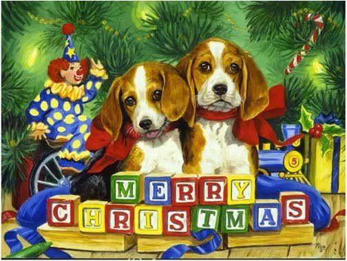 Christmas Beagle Clipart.Merry Christmas Beagles The Holidays Christmas Puppy