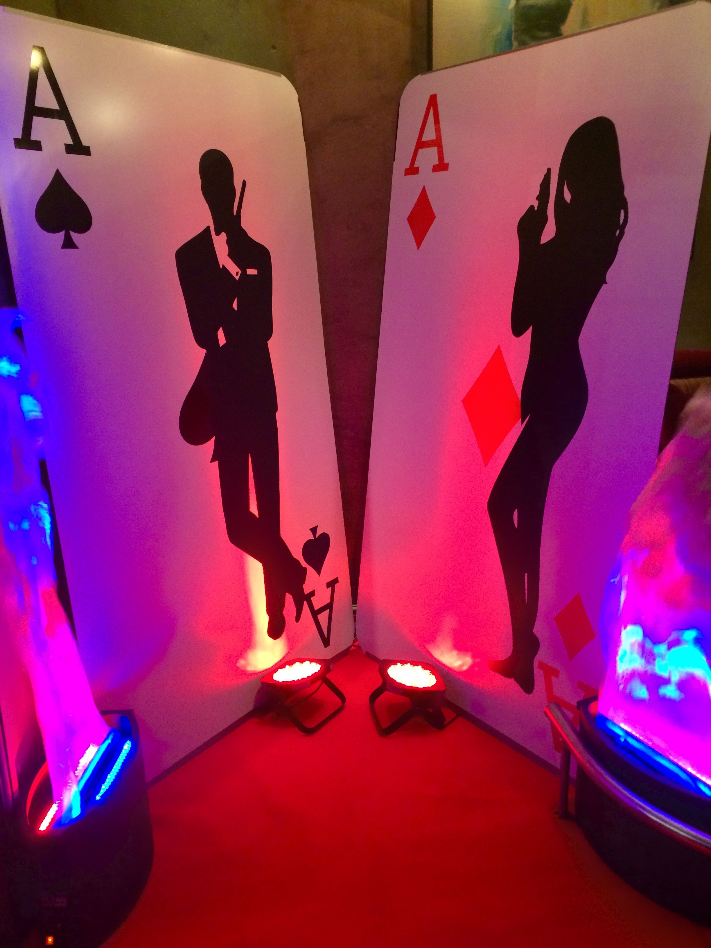 Giant playing card hire james bond prop party event prop