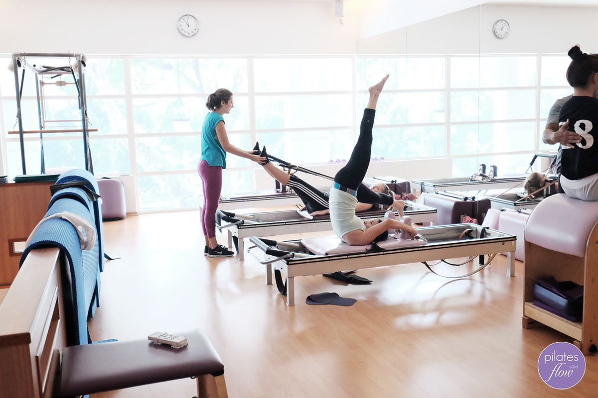 Teaching Pilates, and working out. That's all we do