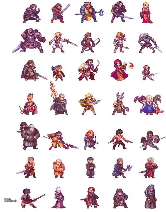 Hi! Again with GoT sprites, this time i want to do a kind of project imagining the characters in a fighting game with a pixelated style. My plan is to add a new character every week starting with: ...: