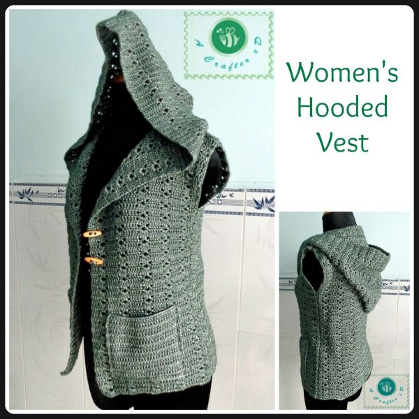 Crochet hooded vest - Maz Kwok\'s Designs | crochet patterns ...