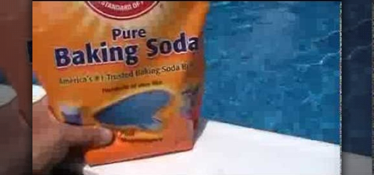 How to keep swimming pool water crystal clear using baking