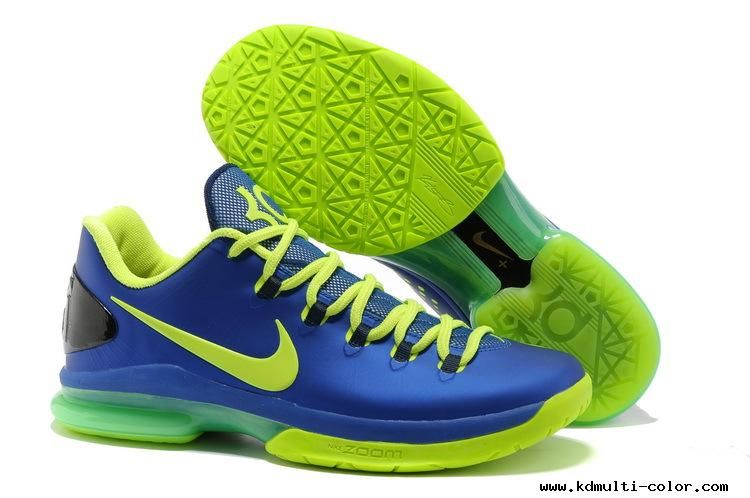 Nike KD V Elite Hyper Blue/Volt-Blackened Blue 585386-400