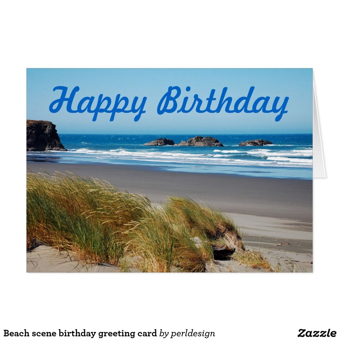 Beach Scene Birthday Greeting Card Cards Jpg 1104x1104 Themed Wishes