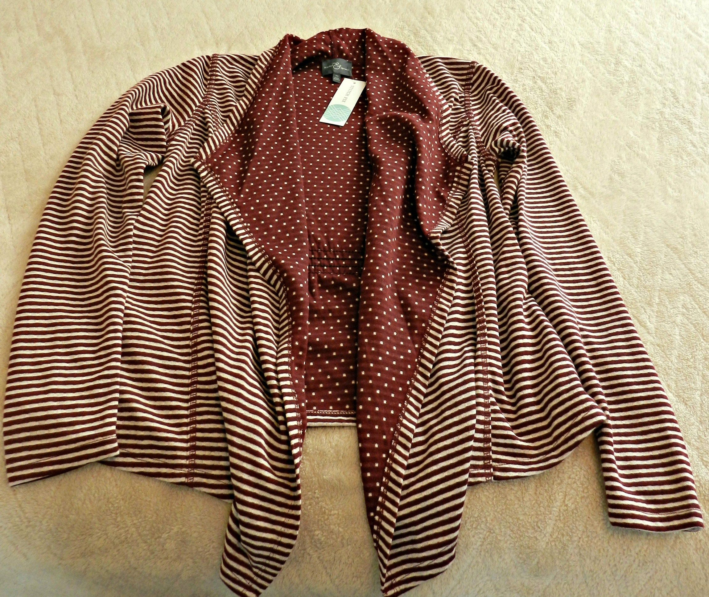 I really like this...stitch fix Margerie Stripe & Dot Open Cardigan