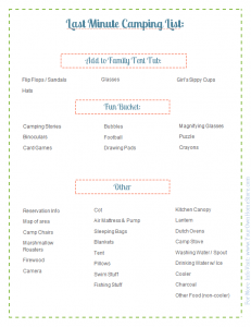 The Ultimate Family Camping List | Simpl | Home 5