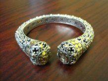 John Hardy 925/18K Jaisalmer Dot Cuff Bracelet