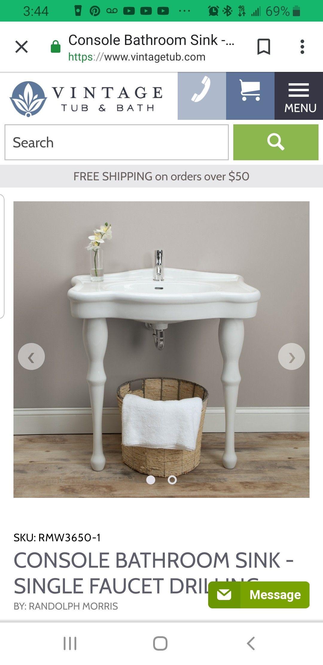 Farmhouse Pedestal Sink Vintage Tub Bath Console Bathroom Sink Farmhouse Pedestal Sink [ 2220 x 1080 Pixel ]