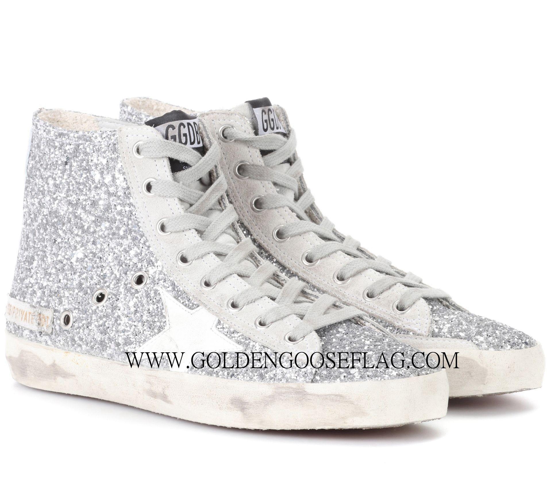 Golden GooseFlag Francy High-Top Sneakers R4DXVzNpP
