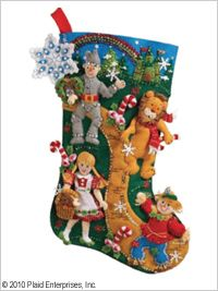 Bucilla ® Seasonal - Felt - Stocking Kits - Christmas in Oz. #bucilla #stockings #christmas #plaidcrafts