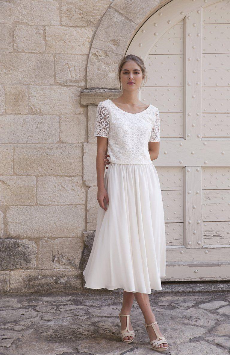 robe mariee civil hiver en 2019
