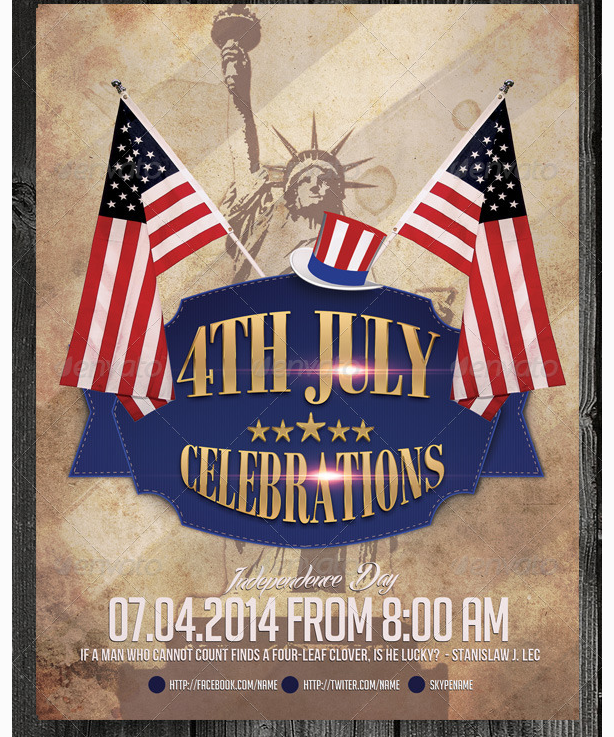 4th july patriotic flyer template party flyer templates for clubs