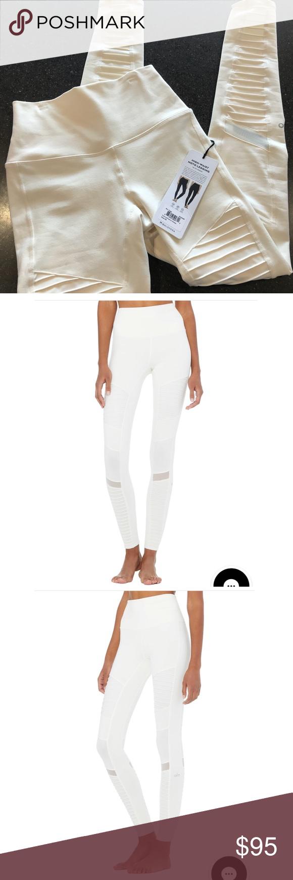 624f8bd8da38c ALO high waist MOTO legging Brand new- tags still attached. Color is  pristine/pristine glossy ALO Yoga Pants Leggings