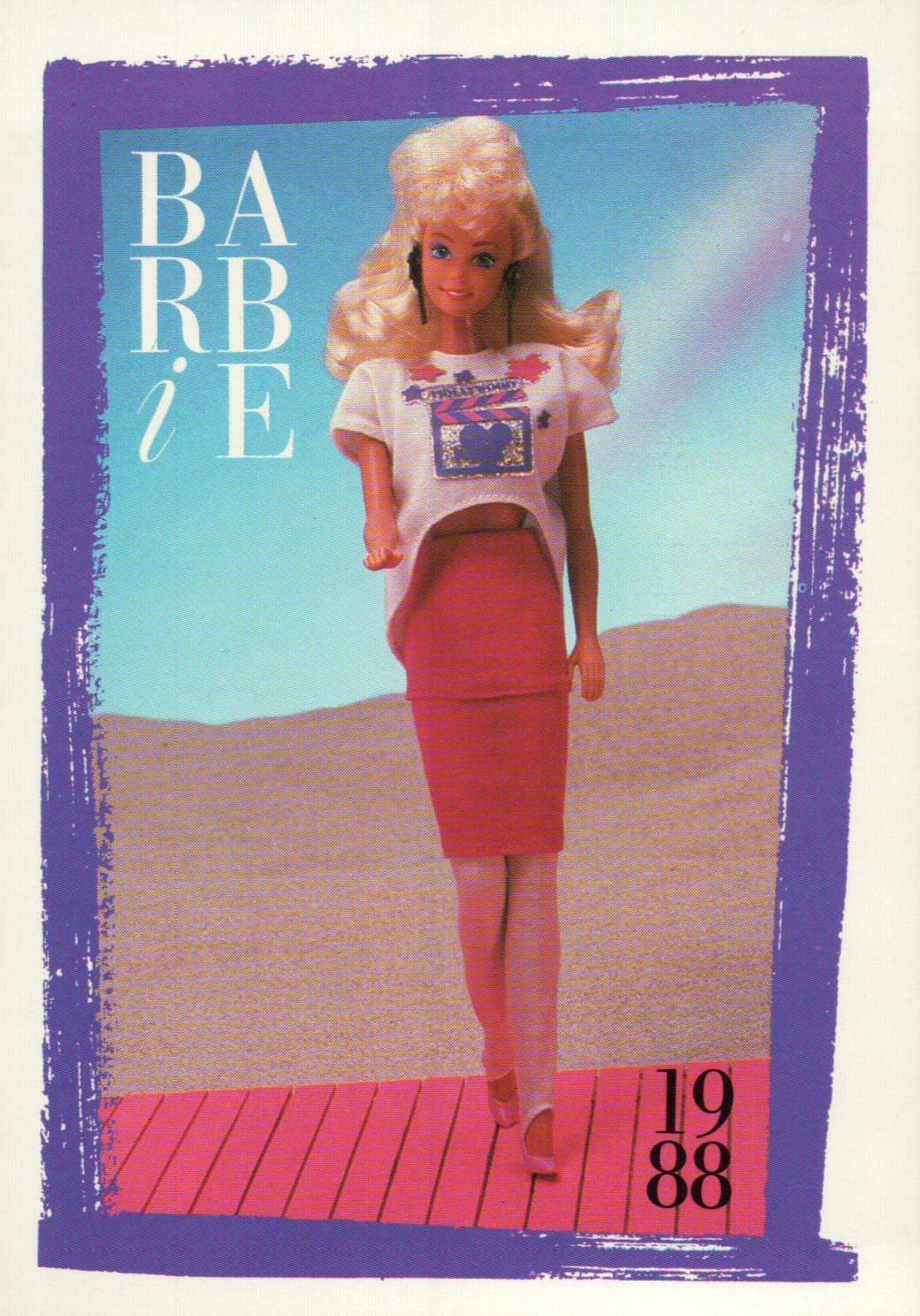 """Barbie Collectible Fashion Card  /"""" Bright /& Breezy Fashions /""""  1988"""