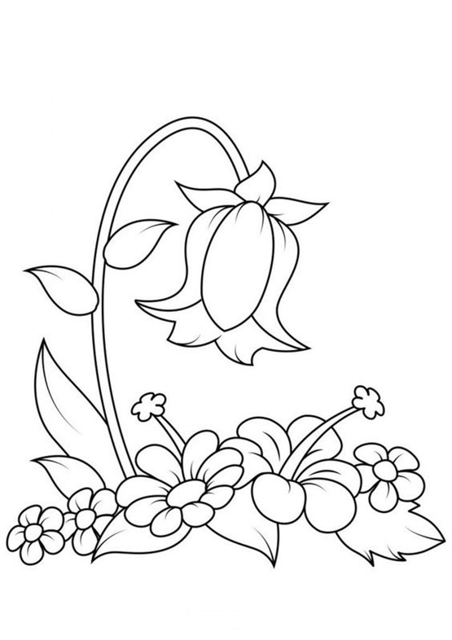 Free Easy To Print Flower Coloring Pages Flower Coloring Pages Embroidery Patterns Vintage Colouring Pages