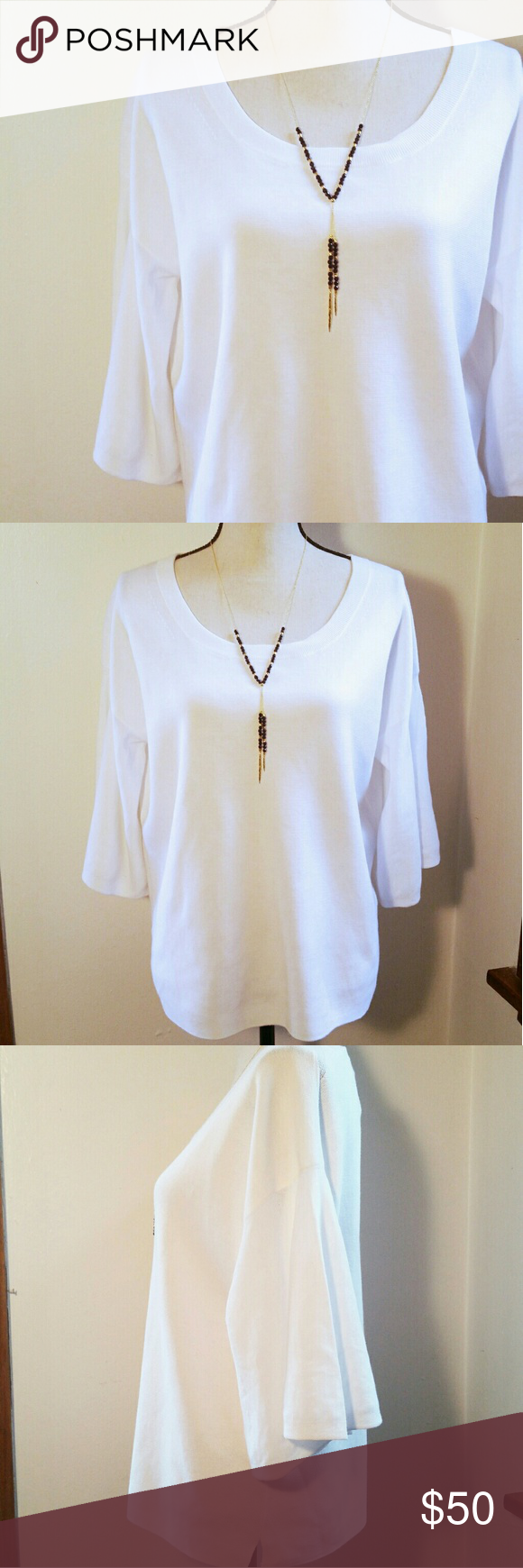 NWT J. Crew White Sweater   White sweaters, Flutter sleeve and ...