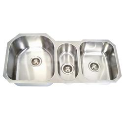 $369  Global-UT-506 - Stainless Steel Undermount - Triple Bowl Kitchen Sink
