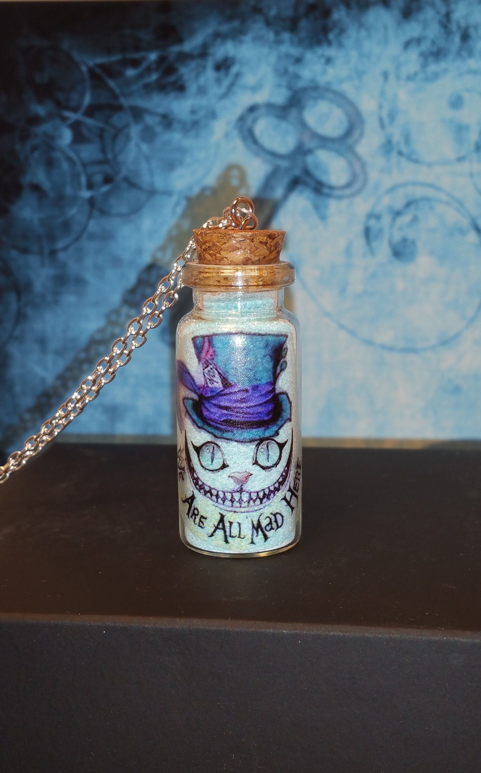 Alice in Wonderland RING Cheshire cat We/'re all mad here mad hatter silver tea