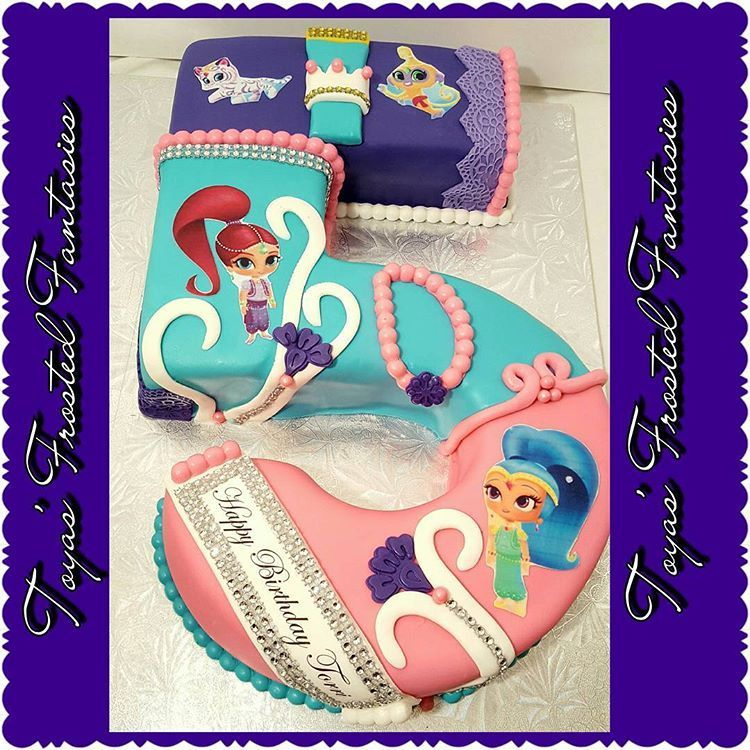 Shimmer And Shine 5th Birthday Cake Shimmerandshine 5 Cakes