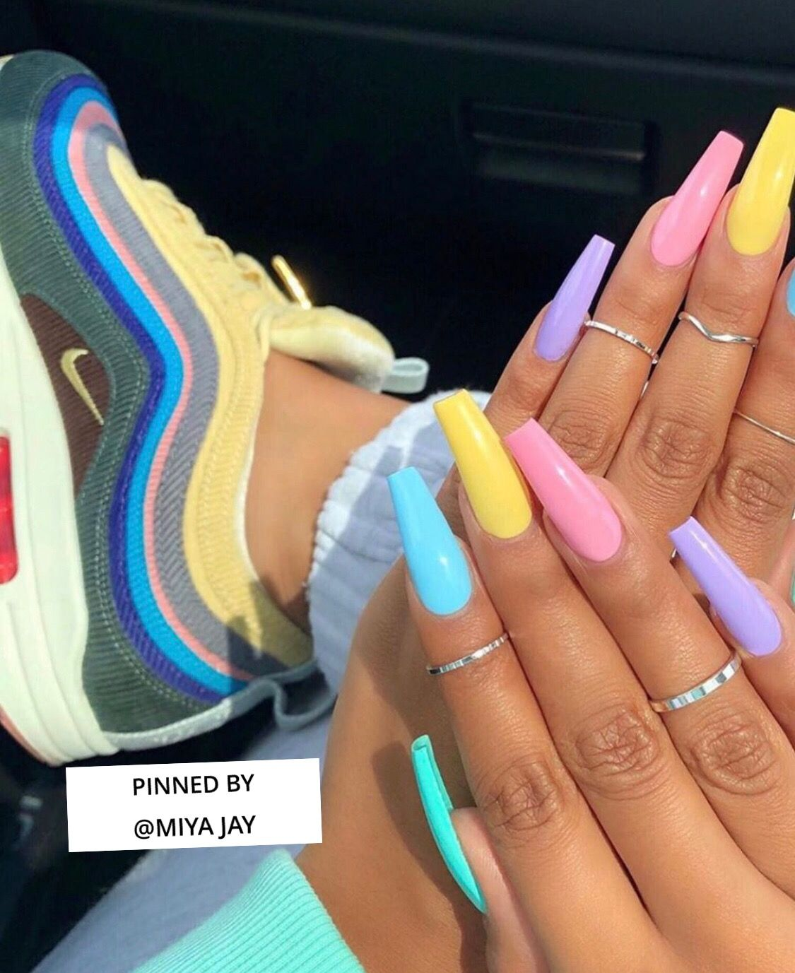 Pastel Clean Follow Me On Pinterest Miya Jay Instagram So Sweetandstuff In 2020 Best Acrylic Nails Summer Acrylic Nails Coffin Nails Designs