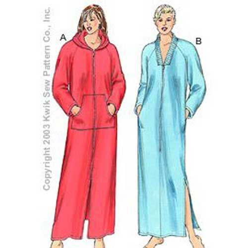 216c06d6bbb Dressing Gown Pattern - I ve been looking for a zip-front pattern for a  while. I like the red version but I d take the zip