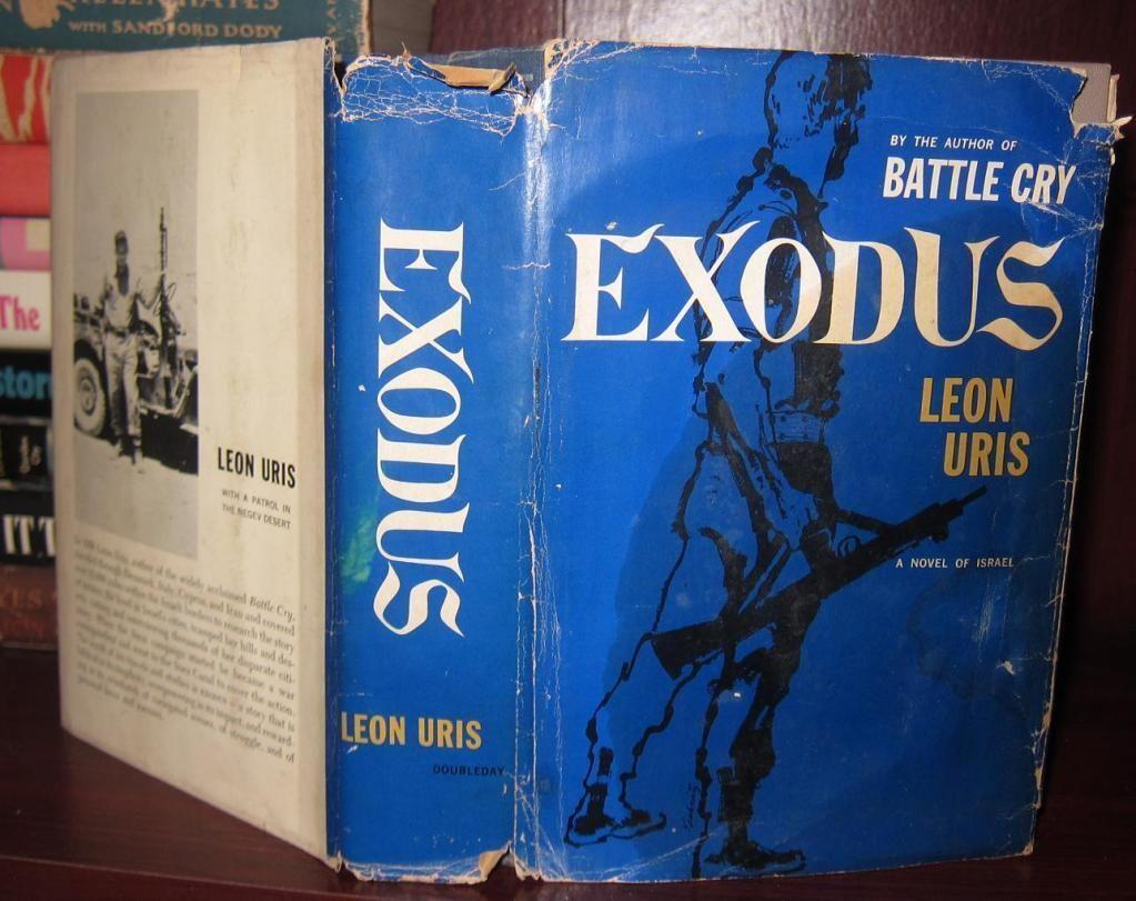 Uris Leon Exodus 1958 1st Edition Early Printing Exodus Book Worth Reading Battle Cry