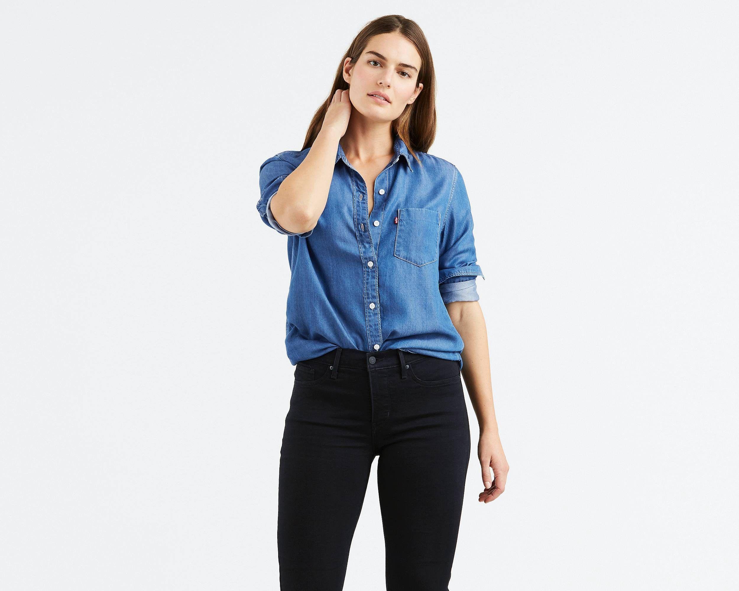 Levi S Ultimate Boyfriend Shirt Medium Authentic Xl Red Boyfriend Shirt Clothes Shirts Blue