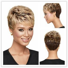 Xiu Zhi Mei 6 African American Blonde Ombre Wig With Bangs, Short Hair Cuts For Curly Hair Wigs For Black Women Remy Hair Synthetic Wig Care From Heyingjie19871010, $18.1| DHgate.Com #africanamericanhair