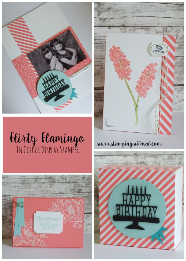 Stampin' Up! - Flirty Flamingo - Stamping With Val - Val Moody; Independent Stampin' Up! Demonstrator. X