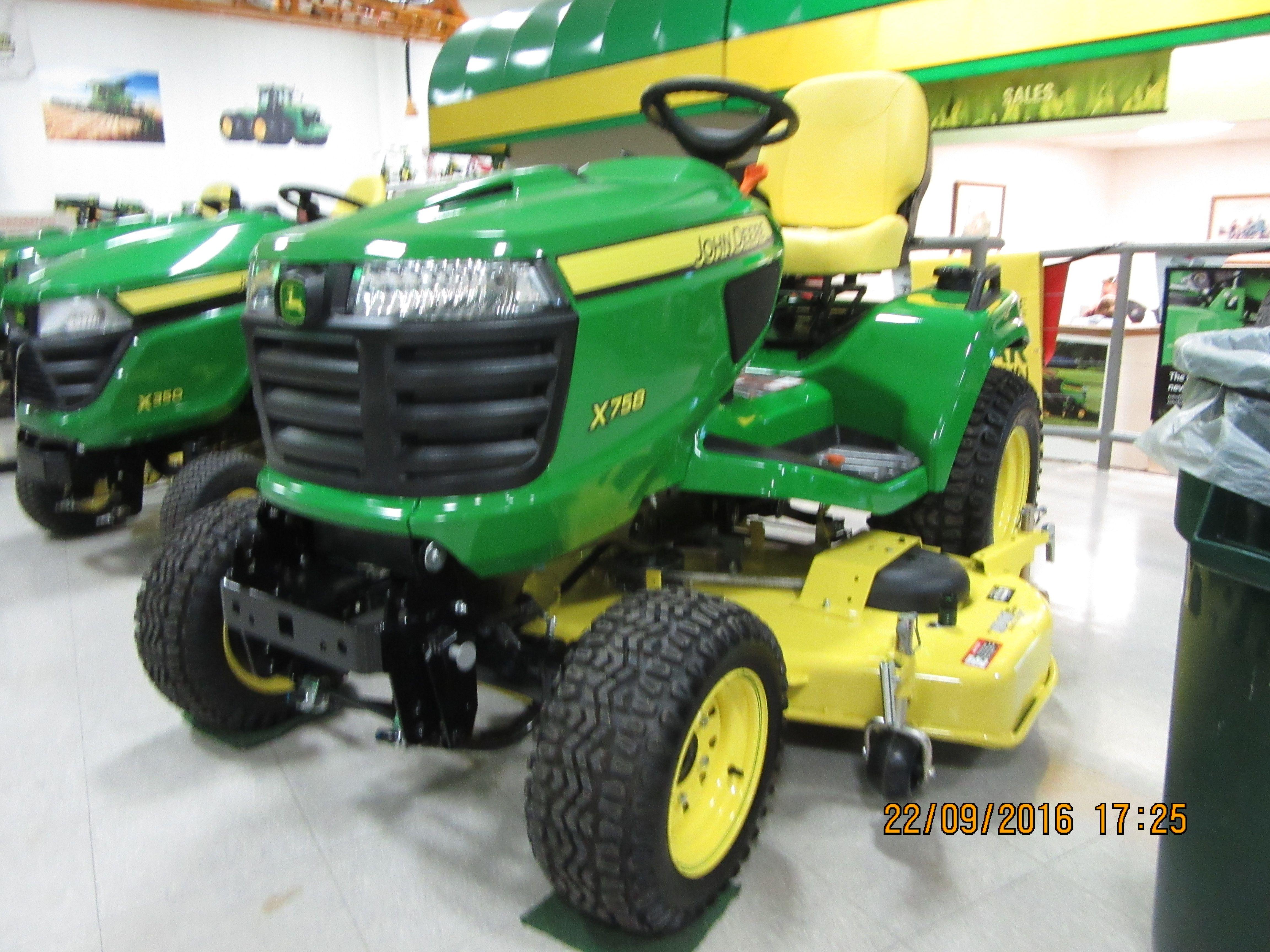 John Deere X758 Harvester, Lawn Mower, Lawn And Garden, Grass Cutter