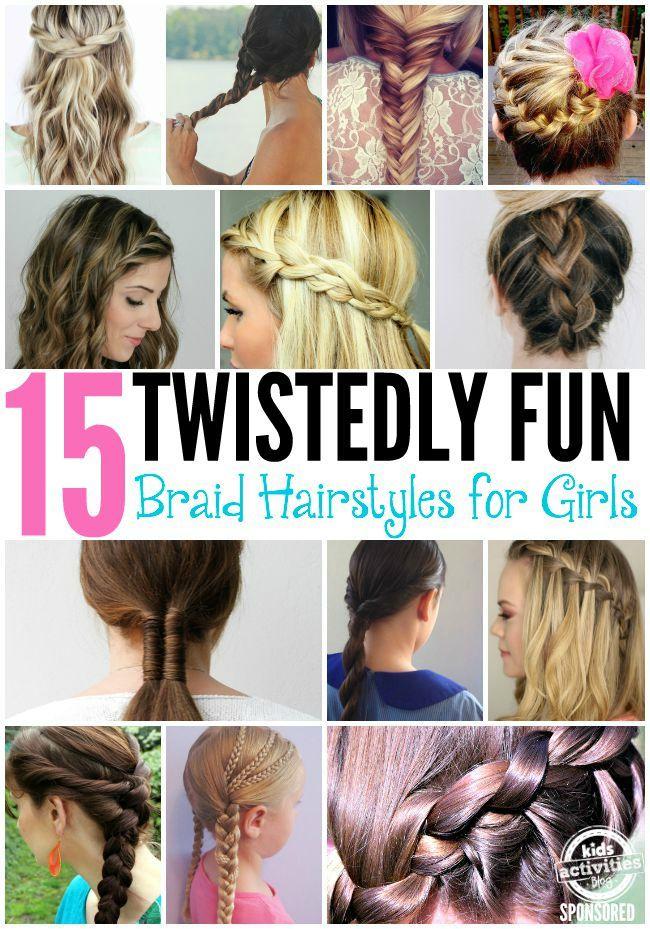 15 Fun Braid Hairstyles For Girls Hair Styles Girl Hairstyles Braided Hairstyles
