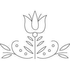 Pattern Detail | Pennsylvania Dutch Tulip | Needlecrafter