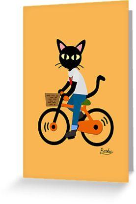 Summer cycling Greeting Card by BATKEI