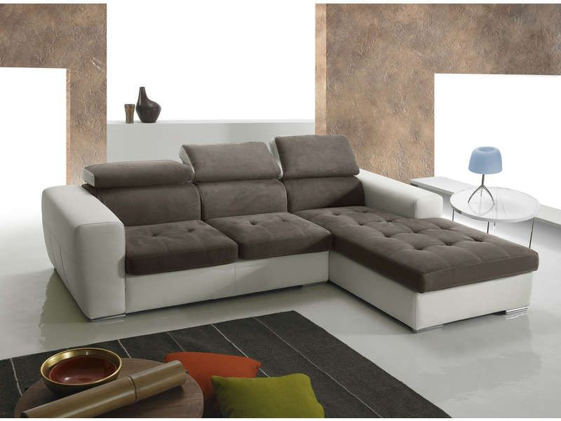 soldes canap conforama achat canap d 39 angle droit 5 places marsala coloris taupe et blanc prix. Black Bedroom Furniture Sets. Home Design Ideas