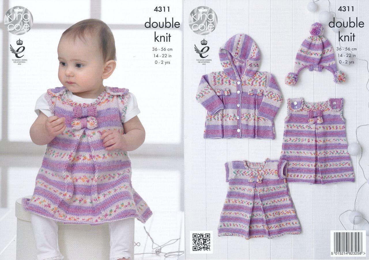 King cole double knitting pattern baby dress tunic coat hat king cole double knitting pattern baby dress tunic coat hat 4311 bankloansurffo Choice Image